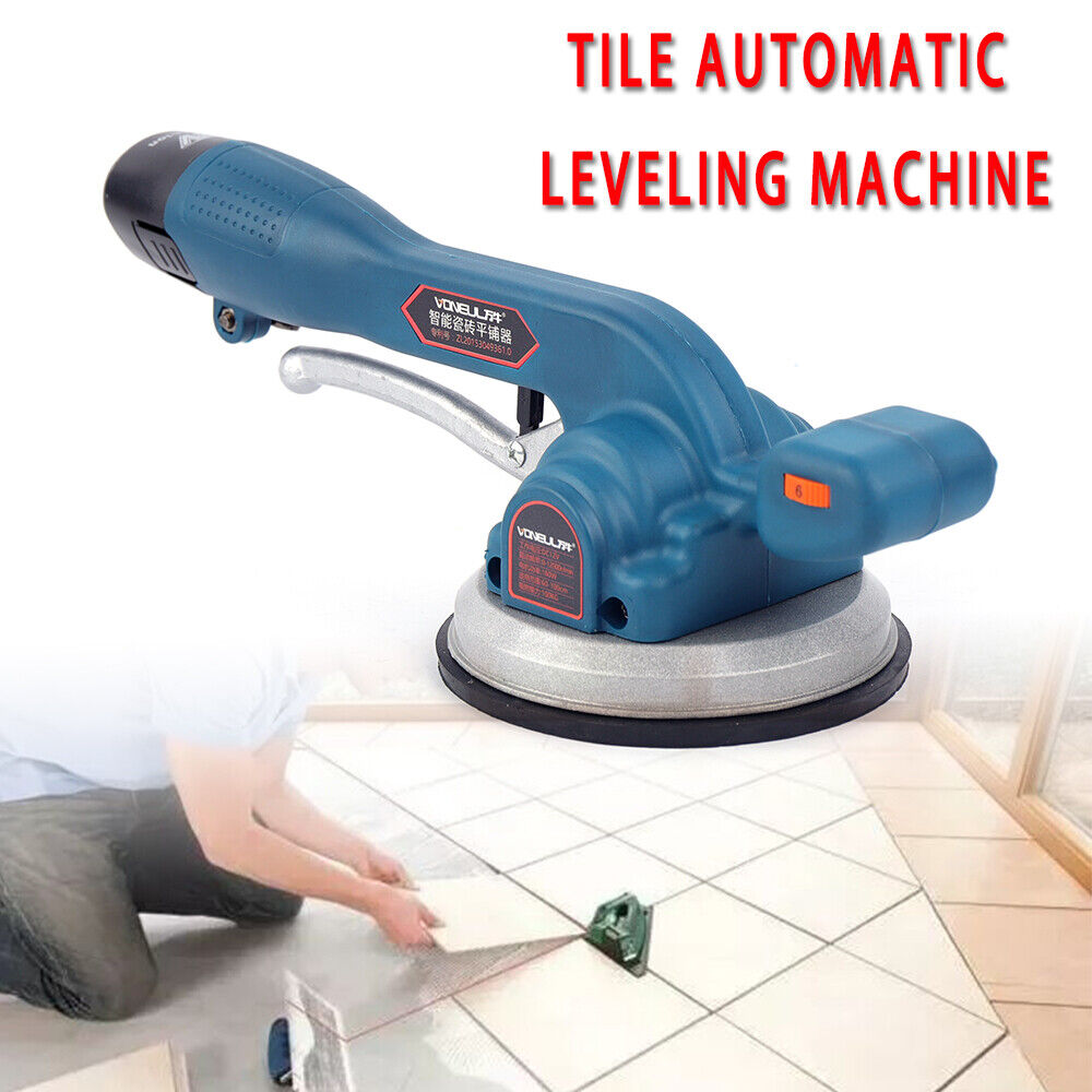 2 Batteries Included Gdrasuya10 Automatic Leveling Machine Tool Handheld Tiling Tiler Tile Vibrator Floor Wall Tiles Plaster Laying Machine for Engineering /& Home Use