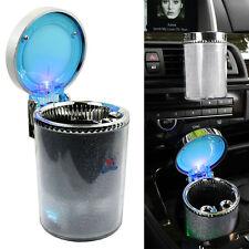 Portable Car Travel Cigarette Cylinder Ashtray Holder Cup - Colorful LED Light