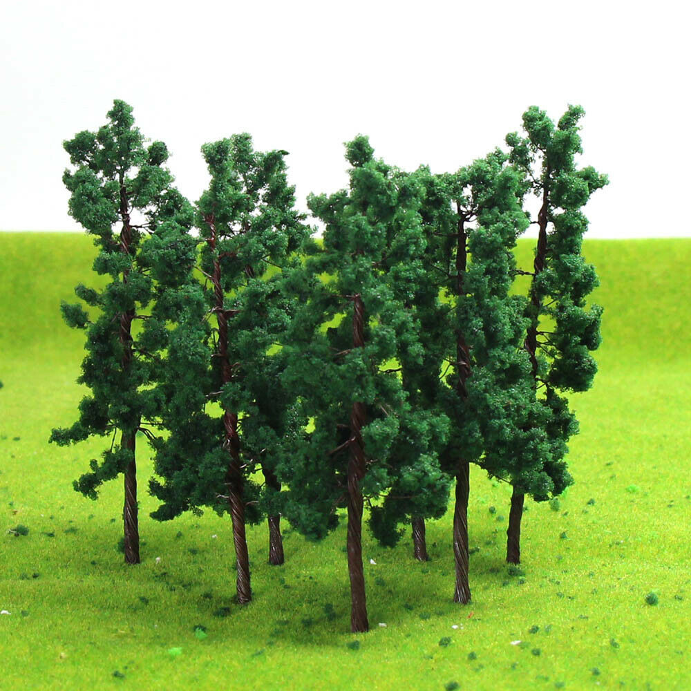 D8030 20Stk. Train Layout Set Modell Bäume Spur 0 H0 8cm