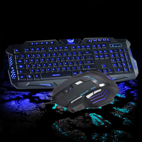 LED Backlit Gaming Keyboard WITH 3 Colorways + Alternating L