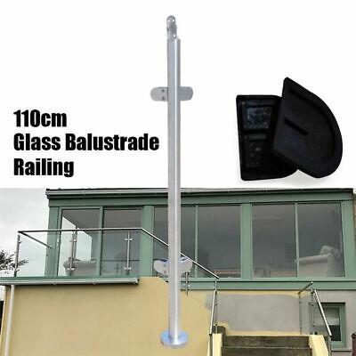 Balustrade Railing Post Stainless Steel Column Pool Indoor Guardrail Pole 110cm