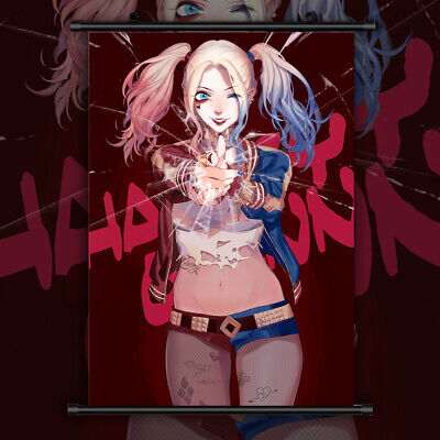 Harley Quinn Suicide Squad HD Print Anime Wall Poster Scroll Room Decor