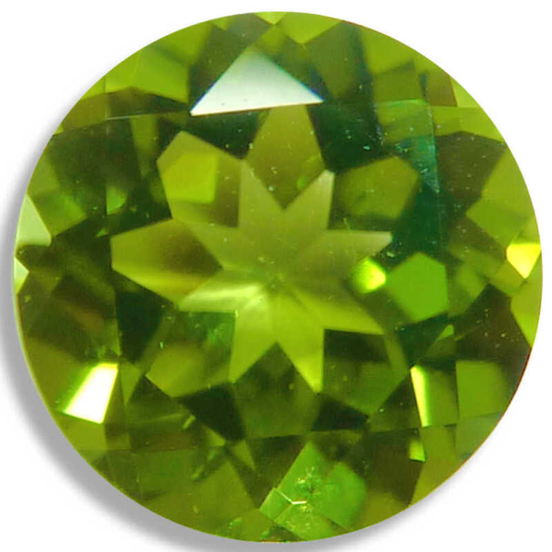 Natural Peridot Round Green Faceted Loose Gemstones Fine Cut AA+