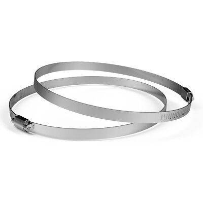 Stainless Steel Clamps 8-inch Pack Of 2 For Ducting Exhaust Ventilation
