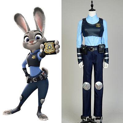 Film Disney Zootopia Rabbit Bunny Officer Judy Hopps COSplay Outfit Suit - Rabbit Suit