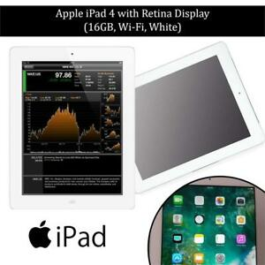 USED Apple iPad 4 with Retina Display MD513LL/A (16GB, Wi-Fi, White) Condtion: USED. No retail packaging. Includes ch...