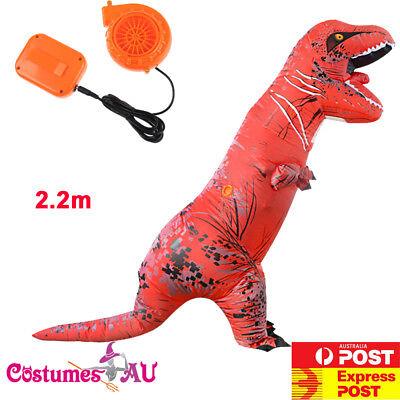 ADULT T-REX Dinosaur INFLATABLE Costume Red TRex T Rex Jurassic World Blowup - Red Dinosaur Costume