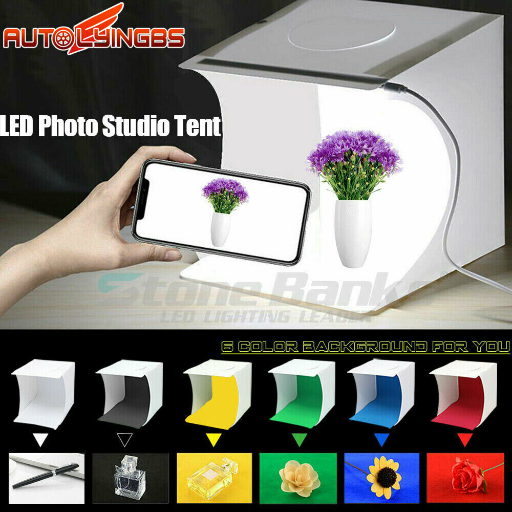 Portable Mini Photo Studio Light Box Photography Backdrop LE