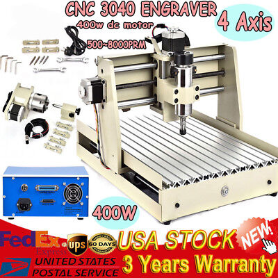 Desktop 3040t Cnc Machine Router 4-axis Engravingwood Metal Carving Control Box