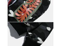 Authentic Black city camo BAPE A bathing ape shark hoodie
