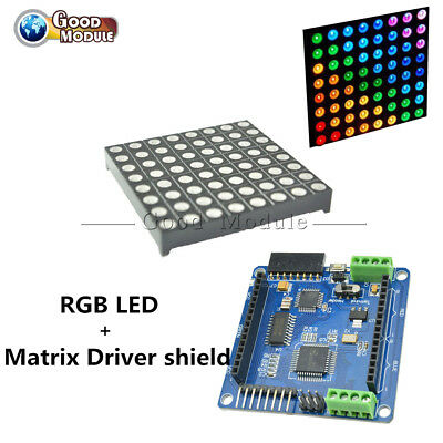 88 8x8 5mm Color Rgb Dot Matrix Led Display Shield Atmega328p For Arduino