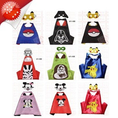 Pokemon Cape (1 Cape+1 Mask) Costume For Children Halloween Party Costumes 3-7 Y
