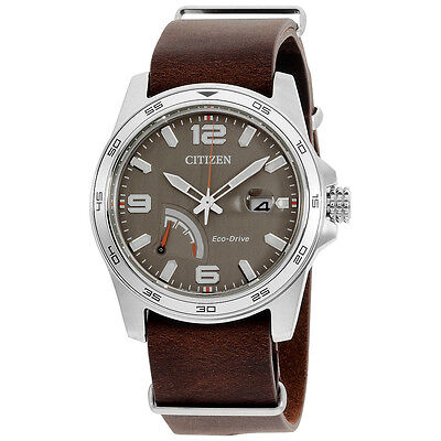 Citizen PRT Taupe Dial Leather Strap Men's Watch AW703901H