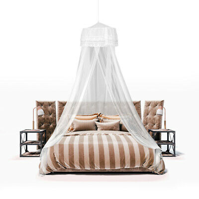 Queen Lace Mosquito Net Bed Home Bedding Lace Canopy Netting Netting+Hanging Kit