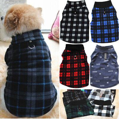 US Small Pet Dog Warm Fleece Vest Clothes Coat Puppy Shirt Sweater Xmas Apparel ()