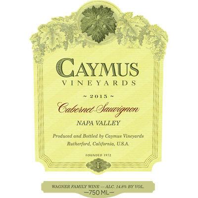 Caymus Cabernet Sauvignon 2015 Robert Parker 97 POINTS! **1 BOTTLE**