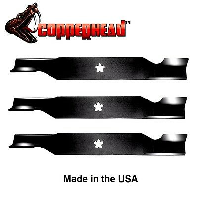 3 Pack Copperhead Hi Lift Blades Fit Sears 187254 187256 532187256 For 54  Deck