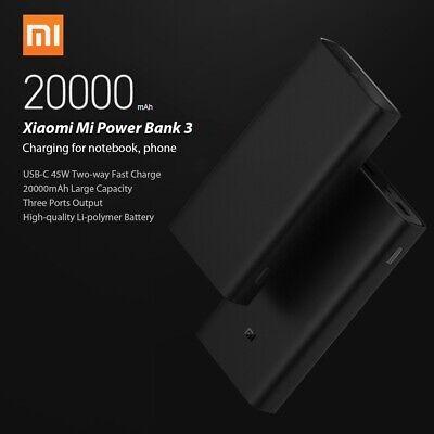 Xiaomi Mi Power Bank 3 Universal External Charger Portable USB-C PD Battery Pack