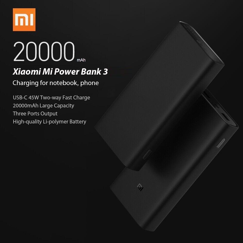 Xiaomi Power Bank 3 Pro Universal External Portable USB-C PD