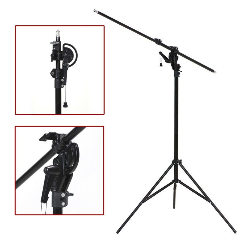 "Continuous Lighting 110"" 2 Way Photography Rotatable Photo Studio Boom Stand"