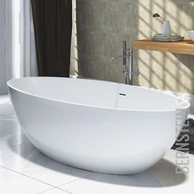 Freistehende Badewanne aus Mineralguss RIO STONE weiß Matt oder Hochglanz  (Stone Freistehende Badewanne)