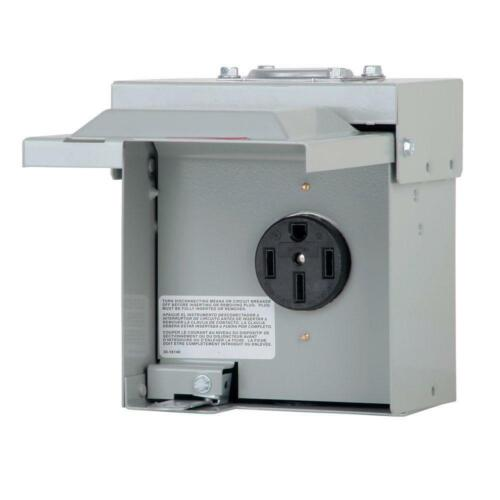 Eaton 50 Amp Temporary RV Power Outlet Box