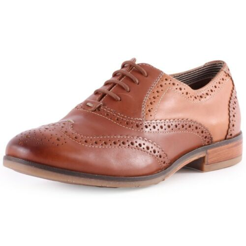 Hush+Puppies+Lace+Up+Shoes+Standard+D+Fit+Size+3+-+Cognac+Leather+-+New+Boxed