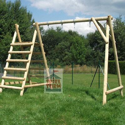 HOQ Schaukelgestell Schaukel aus Holz Kinderschaukel Schaukelbock für Rutsche 3m
