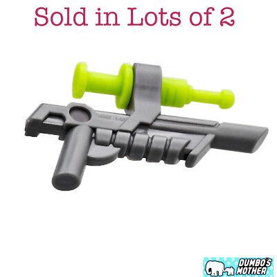 Plastic Syringes Bulk (LEGO 2) Star Wars Blaster Gun with Syringe and Clip Minifigure Weapon)