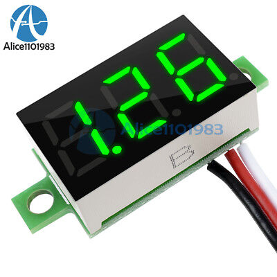 0.36 Dc 0-30v Led Panel Voltage Meter 3-digital Display Voltmeter 3 Wires Green