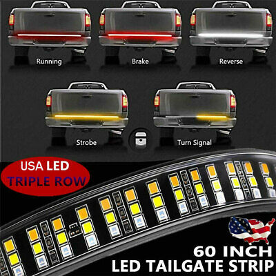 "60"" Tailgate LED Strip Bar Truck Stop Brake Turn Signal Tail Light For Ford F150"
