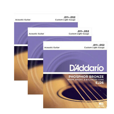 D'Addario EJ26 3D Acoustic Strings 3 Pack UPC 019954934200