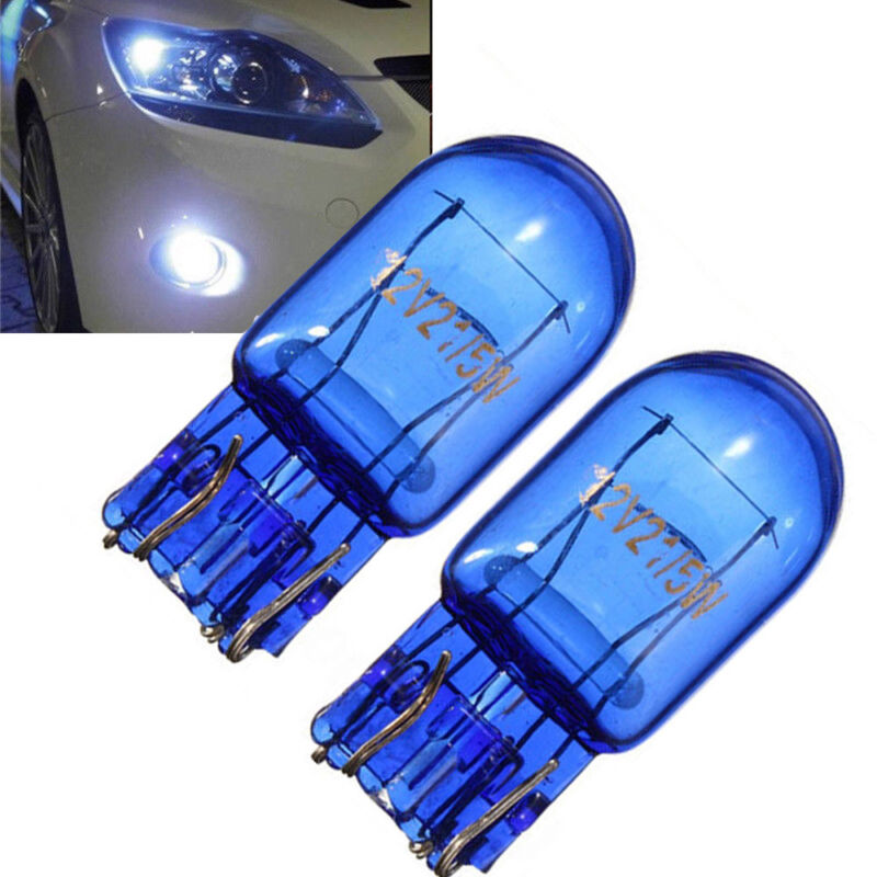 2x W21 5W T20 580 Halogen Sidelight 7443 Super White HID Xenon Bulb Light 5000k