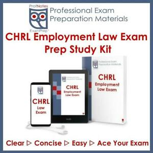 CHRP CHRL Employment Law Exam Prep Textbook HR Guide Knowledge Study Notes Kit