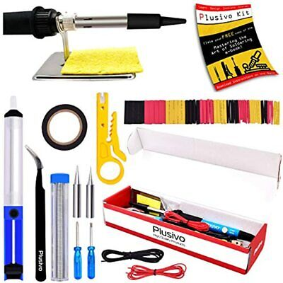 Soldering Iron Kit Electronics 60w Adjustable Temperature Wire Cutter Pump
