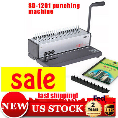 Sd-1201 Plastic Spiral Coil Insert Binding Machine Binder Notebook Maker