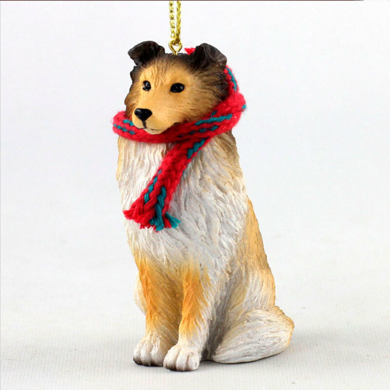 Sheltie Christmas Scarf Ornament