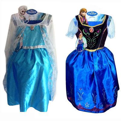 Disney Frozen Elsa & Anna Child Girls Costume Size 4-6 NEW](Elsa Costume Baby)