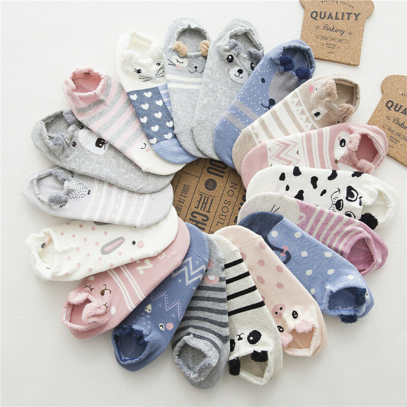 cute women cotton warm socks animal patterned