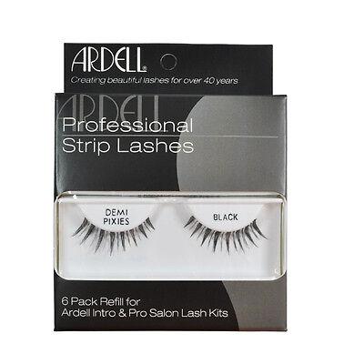 2 x Ardell Strip Lashes Demi Pixies Black 6 Pack Refill Kit 60067 (Lashes 6 Pack Refills)