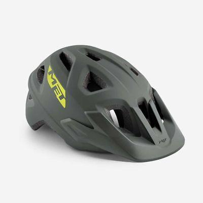 Bicicleta de Montaña Ciclo de Casco Met Echo Gris Mate 52 57