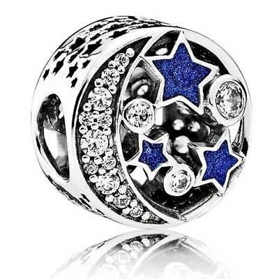 VINTAGE NIGHT SKY Pandora Charm Sterling Silver genuine S925 791992CZ RRP £55