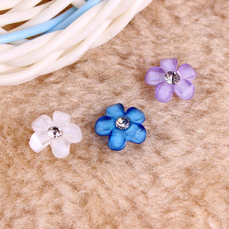 20Pcs 10mm Resin Flower Flatback Scrapbooking For Phone//Wedding Crafts DIY  R