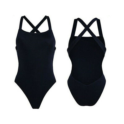 Buy cheap womens one piece swimsuit padded bikini swimwear bathing monokini cross black
