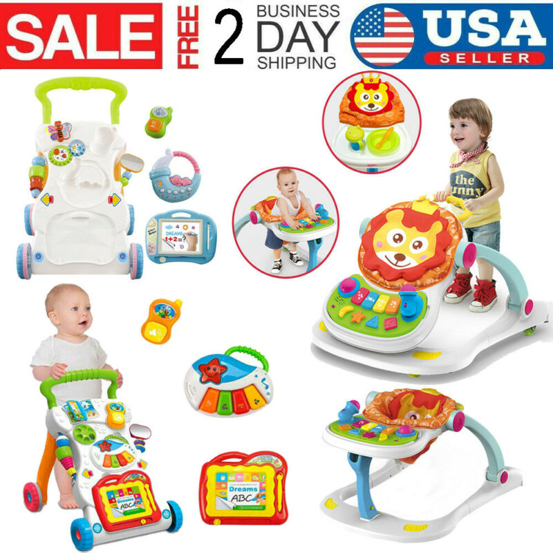 Sit-to-stand Baby Walker Stroller Multi-Function Stroller To