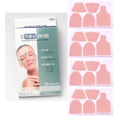 [Made In Korea] 60 PATCHES ANTI-WRINKLE CARE TAPE Forehead Brow Laugh Lines Eye