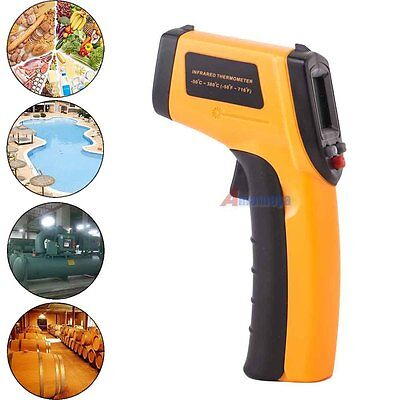 Digital Temperature Temp Meter Gun Sensor Measure Laser Infrared Ir Thermometer