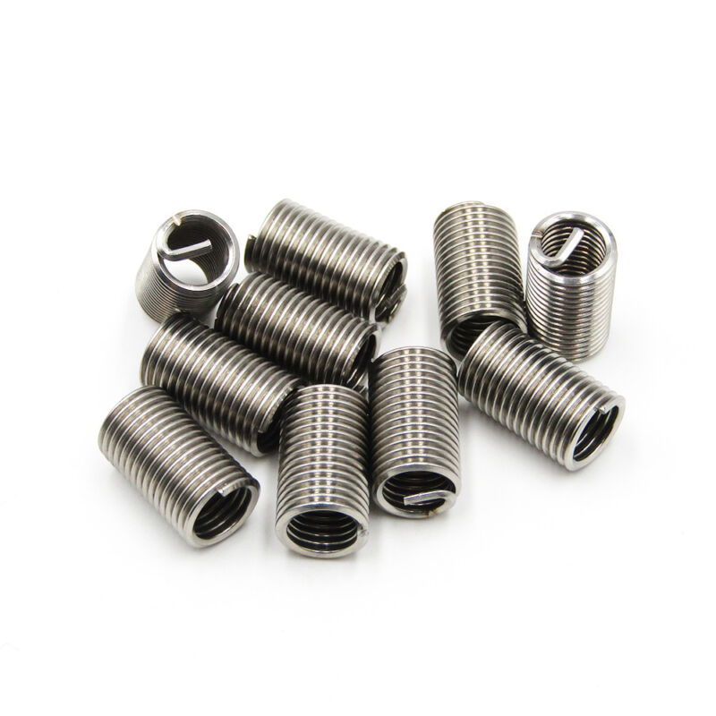 10pcs M8 x 1.25 x 3D Helicoil Insert Wire Thread Insert 304 Stainless Steel