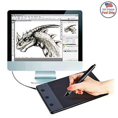 Computer Art Graphics Drawing Tablet Board 4000 LPI + Batter