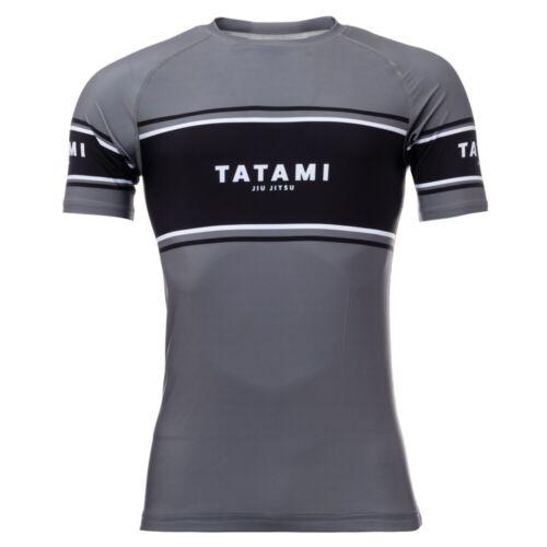 Tatami Fraction BJJ Rash Guard Grey MMA Compression Top Adult JiuJitsu Grappling